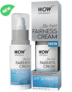WOW Skin Science Fairness Cream product bottle