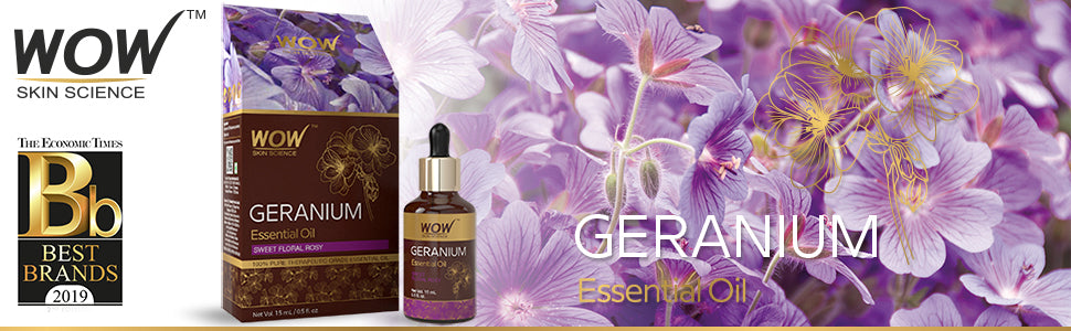 WOW Skin Science Geranium Essential Oil