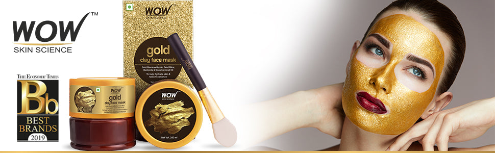 WOW Skin Science Gold Clay Face Mask