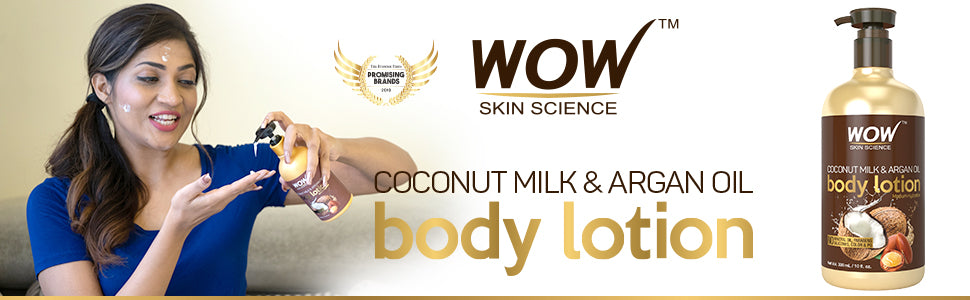 Wow Skin Science Coconut Milk & Argan Oil Body Lotion