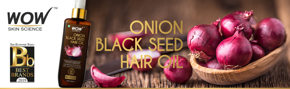 Wow Skin Science Onion Black Seed Hair Oil Best Onion Oil For Growth Buywow