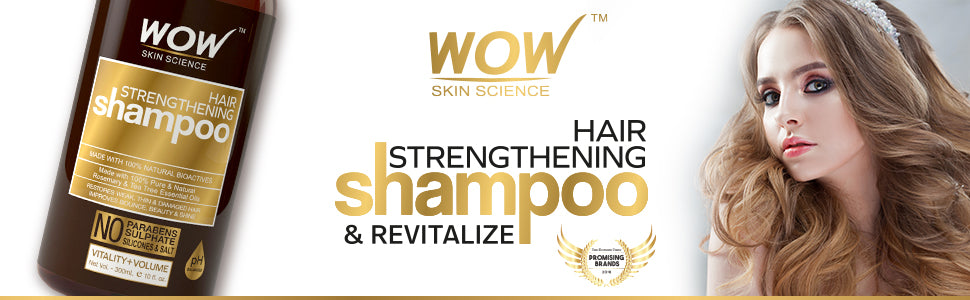WOW Skin Science Hair Strengthening Shampoo banner image