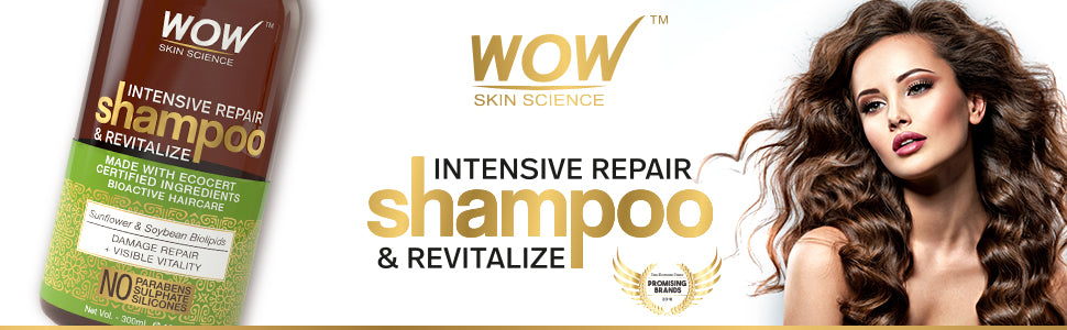 WOW Skin Science Intensive Repair Shampoo and Revitalize banner image