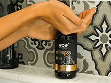 WOW Skin Science Charcoal & Keratin Shampoo step1