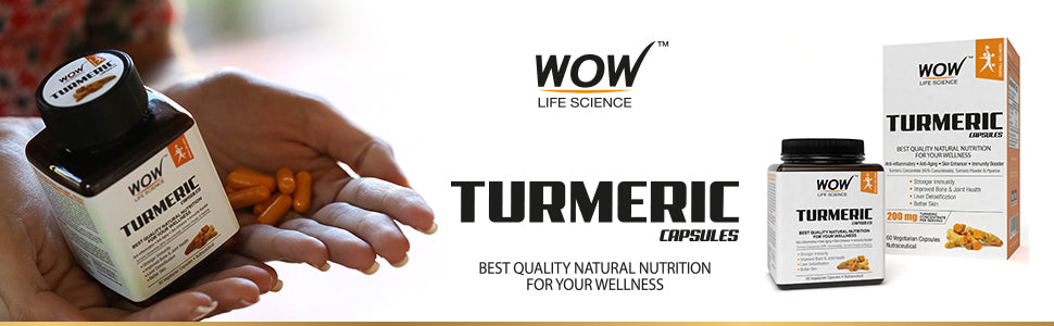WOW Life Science Turmeric Capsules