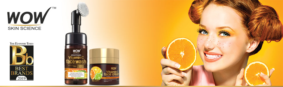WOW Skin Science Vitamin C Face Wash and Vitamin C Cream