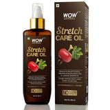 WOW Skin Science Stretch Care Oil to Minimize Stretch Marks & Even Out Skin Tone - Blend of 6 Oils with Rosehip Calendula & Sea Buckthorn Oils - No Parabens, Silicones, Mineral Oil & Color - 200 ml