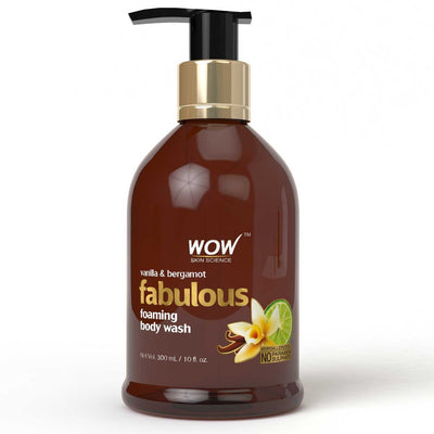 WOW Skin Science Vanilla And Bergamot Body Wash - 300ml - Shower Gel - BuyWow