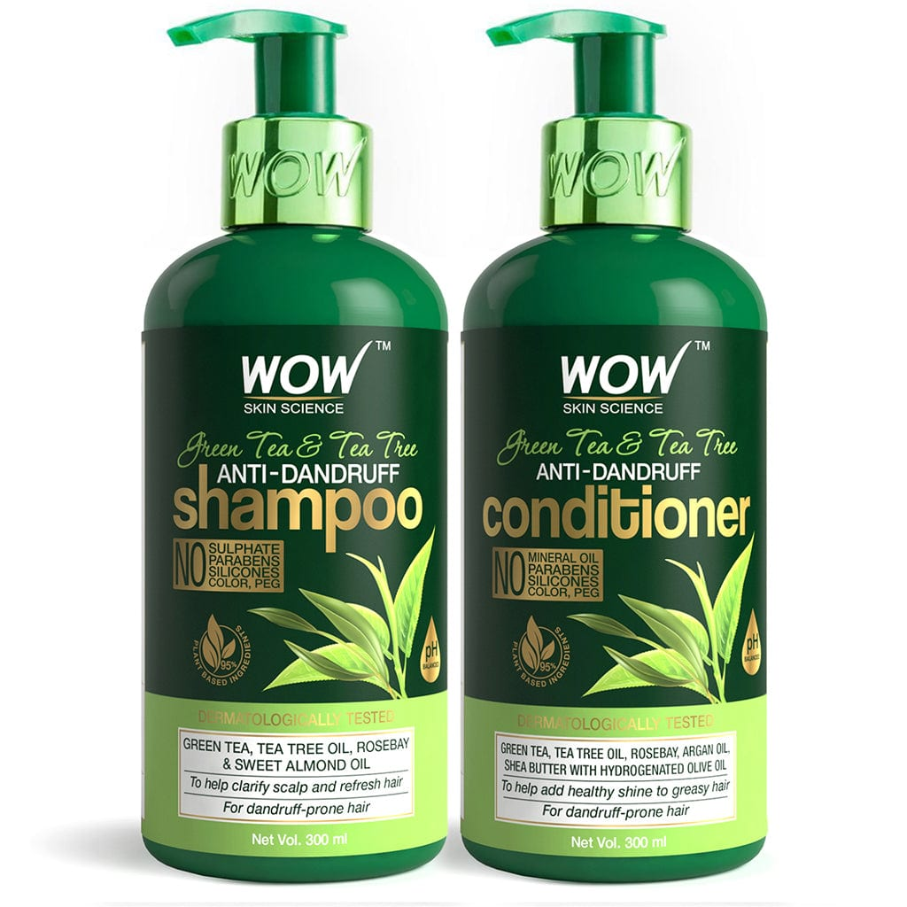 WOW Skin Science Green tea and tea tree shampoo + conditioner