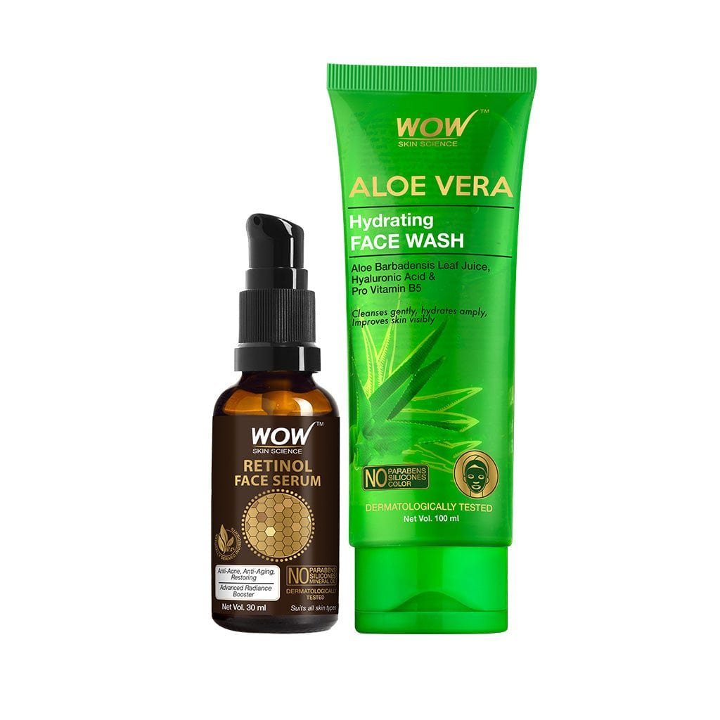 WOW Skin Science Luxuriant Aloe Vera Kit - Rakshabandhan Special - Contains Aloe Vera Body Lotion, Soothing Gel, Face Wash, Peel Off Mask & Body Wash - 750 ml - BuyWow