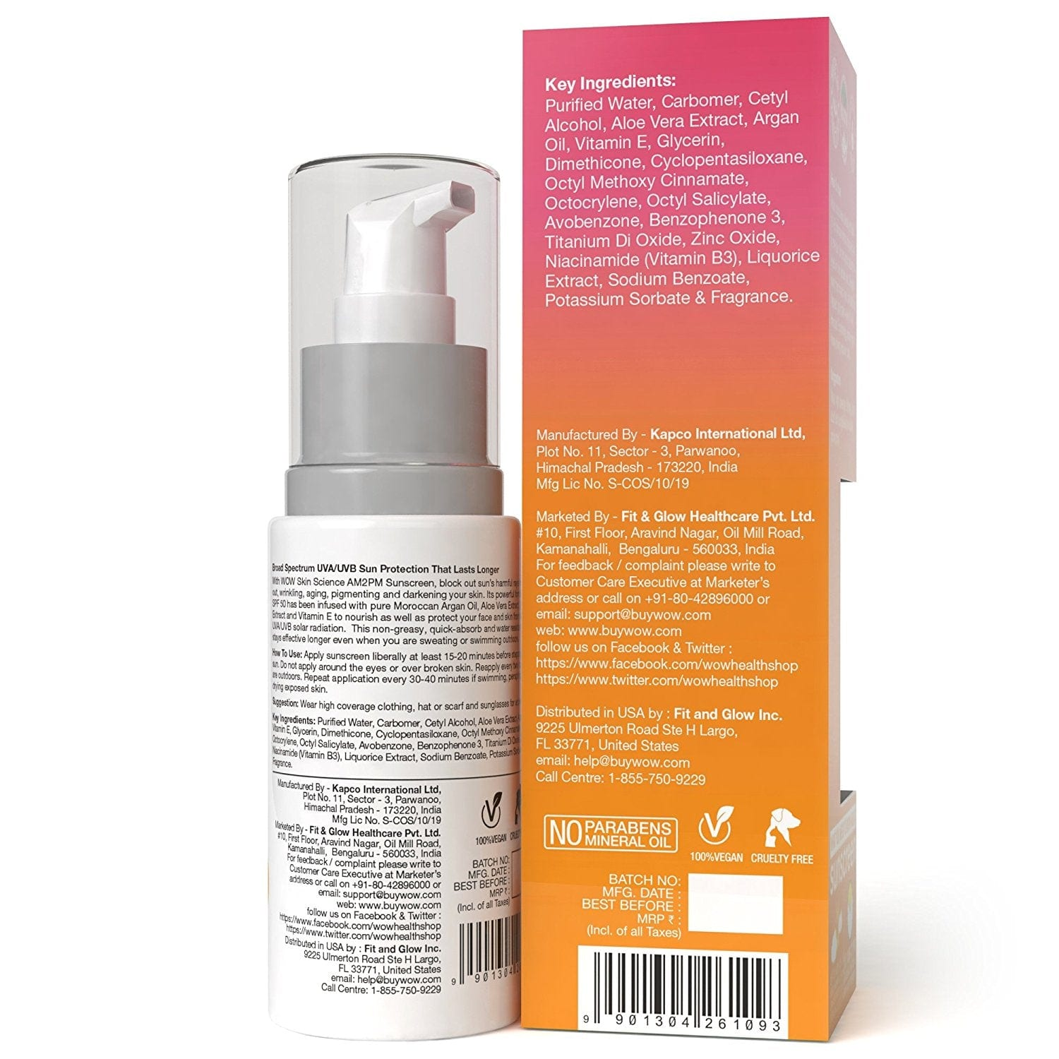 WOW Skin Science AM2PM Sunscreen SPF-50 - 100 ml - BuyWow