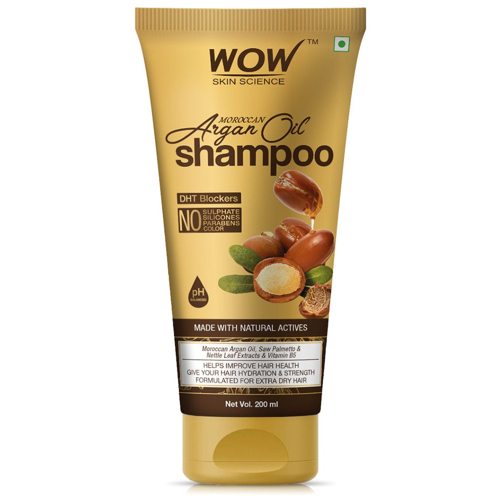 WOW Skin Science Moroccan Argan Oil Shampoo (with DHT Blocker) - 200 mL - BuyWow