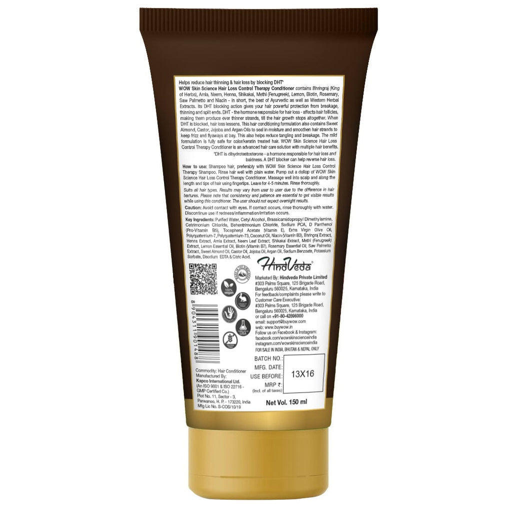 WOW Skin Science Hair Loss Control Therapy Conditioner - 150 ml - BuyWow