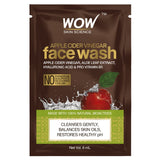 WOW Skin Science Apple Cider Vinegar Face Wash 6 ml Sachet - BuyWow