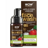 WOW Skin Science Apple Cider Vinegar Foaming Face Wash- with Organic Certified Himalayan Apple Cider Vinegar - No Parabens, Sulphate & Silicones - 100 ml