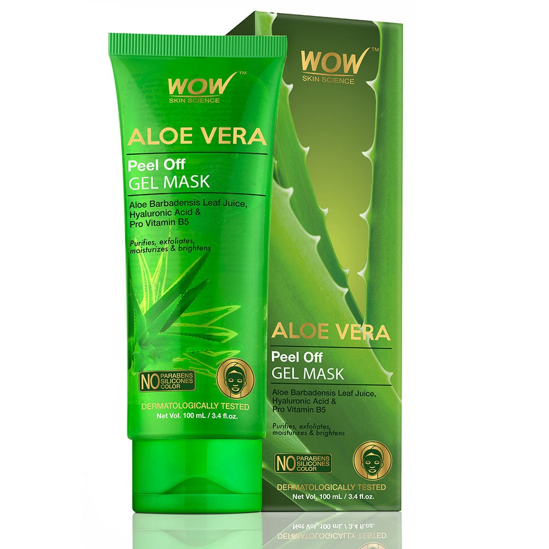 WOW Skin Science Aloe Vera with Hyaluronic Acid & Pro Vitamin B5 Peel Off Gel Mask - 100 ml