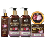 WOW Skin Science Onion Black Seed Oil Hair Care Ultimate 4 Kit (Shampoo + Hair Conditioner + Hair Oil + Hair Mask) - 1000 ml