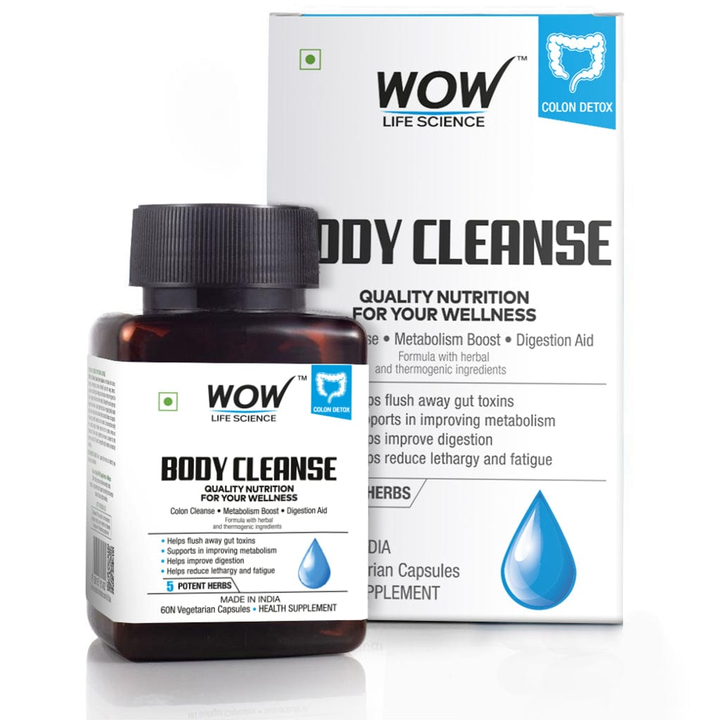 WOW Life Science Body Cleanse 750mg - 60 Vegetarian Capsules