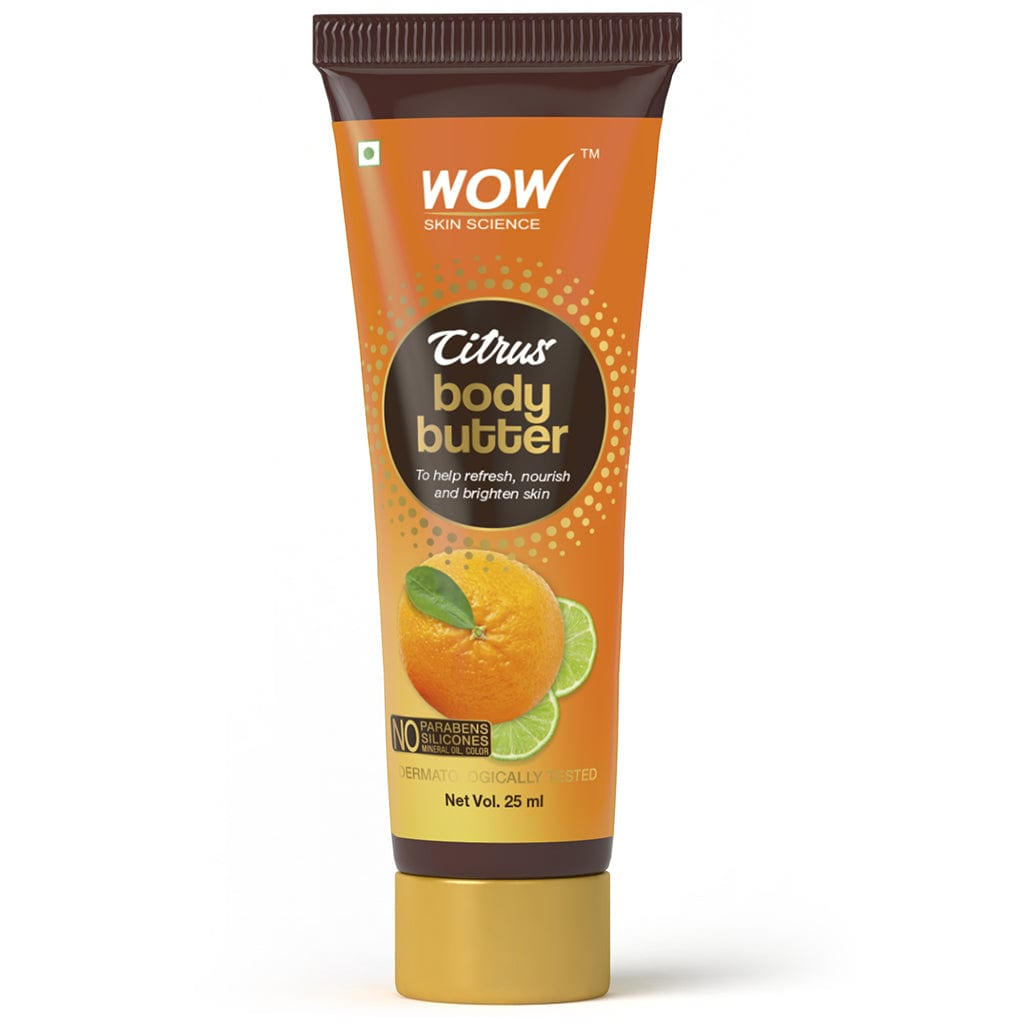 SAMPLER: WOW Skin Science Citrus Body Butter - No Parabens, Silicones, Mineral Oil & Color - 25 ml