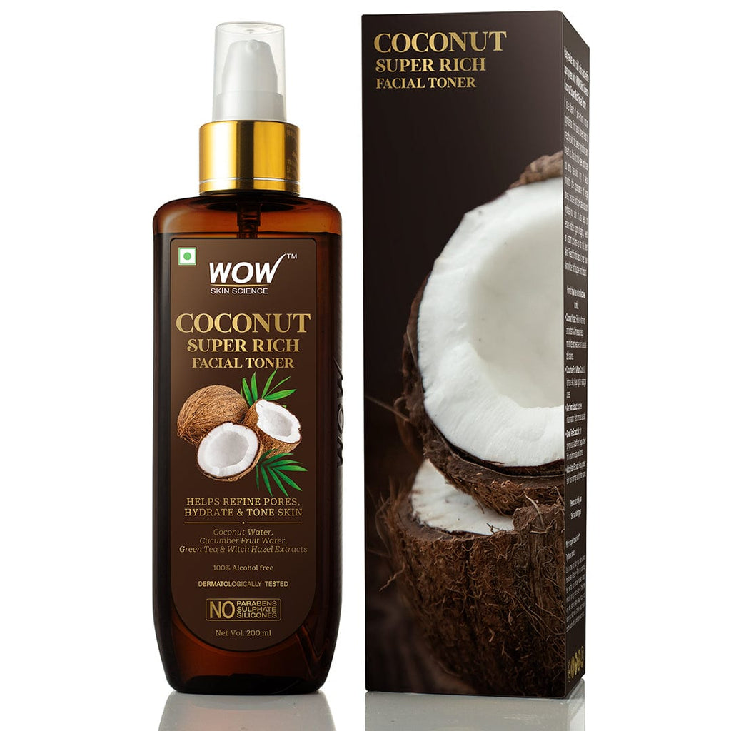 WOW Skin Science Coconut Super Rich Facial Toner for Hydrating & Toning Skin - For All Skin Types - No Parabens, Sulphate & Silicones - 200 ml - BuyWow