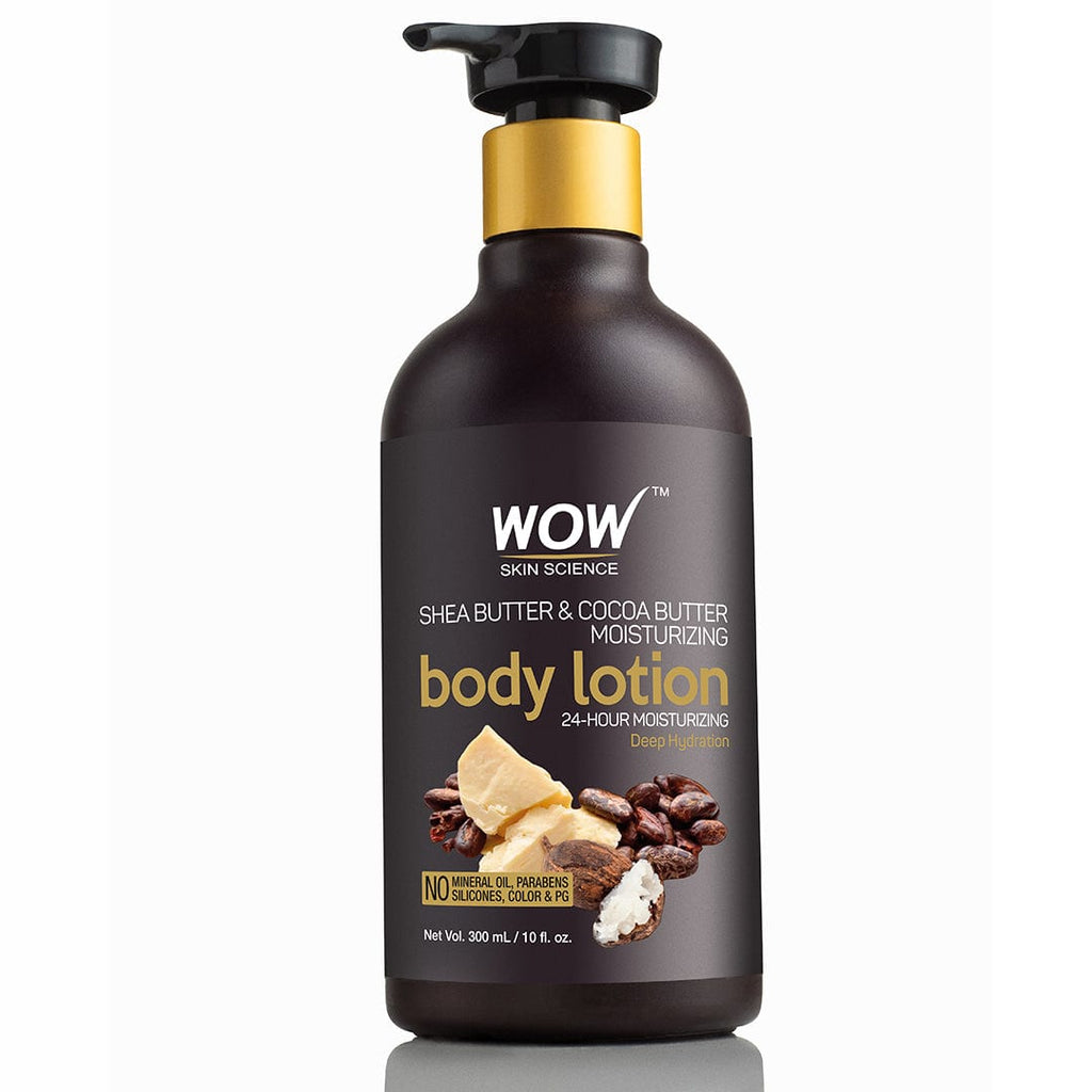 WOW Skin Science Shea & Cocoa Butter Moisturizing Lotion (Hydration Level - High) - 300 mL - BuyWow