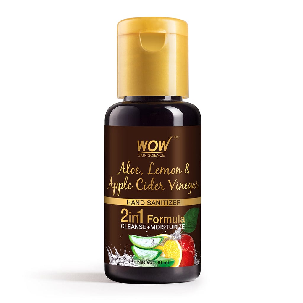 WOW Skin Science Aloe, Lemon & Apple Cider Vinegar Hand Sanitizer - 30 ml