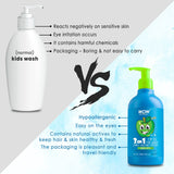 WOW Skin Science Kids Tip To Toe Wash - Shampoo - Conditioner - Body Wash - No Sulphates & Parabens - Green Apple - 300 ml - BuyWow