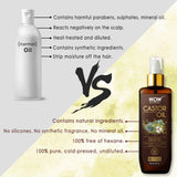 WOW Skin Science 100% Pure Castor Oil - Cold Pressed - For Stronger Hair, Skin & Nails - No Mineral Oil & Silicones - 200 ml - BuyWow