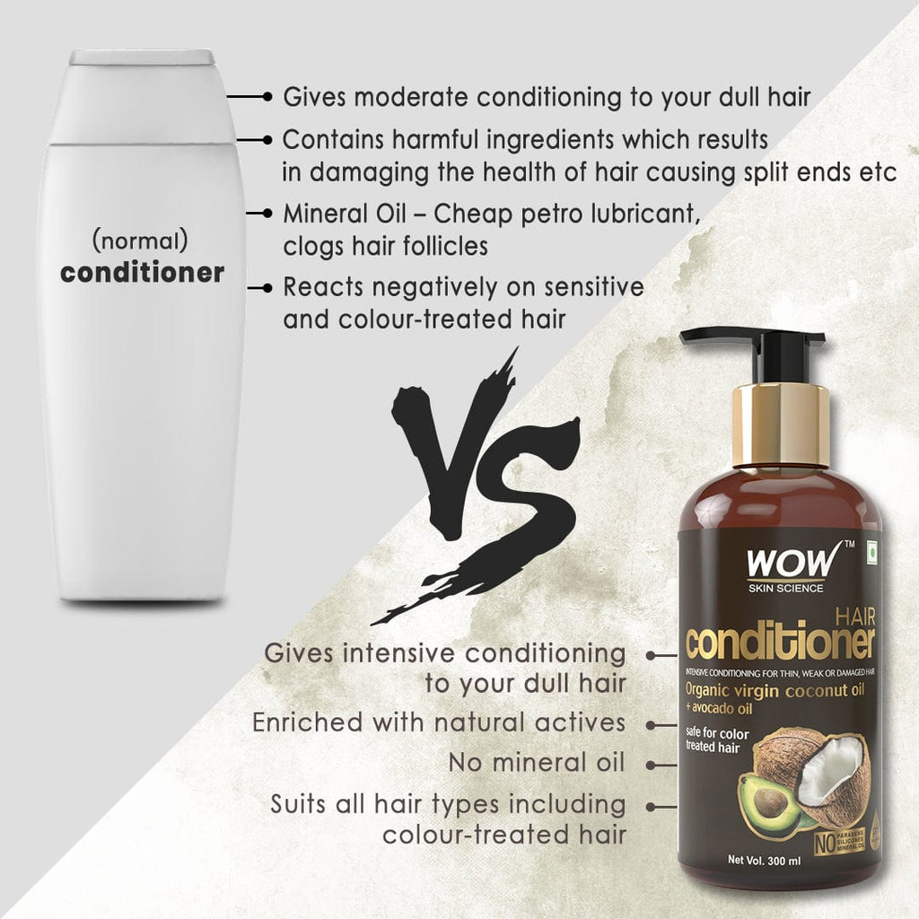 WOW Skin Science Coconut & Avocado Oil No Parabens & Sulphate Hair Conditioner - 300 ml - BuyWow