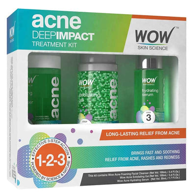 WOW Skin Science Acne Deep Impact Treatment Kit - BuyWow