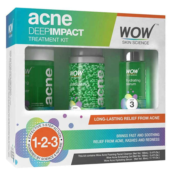 WOW Skin Science Acne Deep Impact Treatment Kit - 250 mL - BuyWow