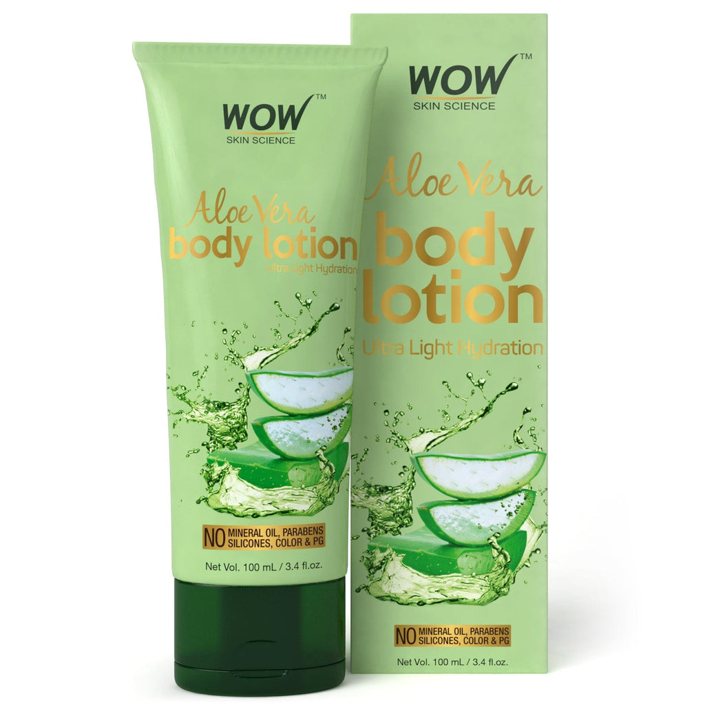 WOW Skin Science Aloe Vera Body Lotion - 100 mL - BuyWow