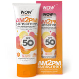 WOW Skin Science AM2PM SPF50 Water Resistant No Parabens & Mineral Oil Sunscreen Lotion - 100 ml