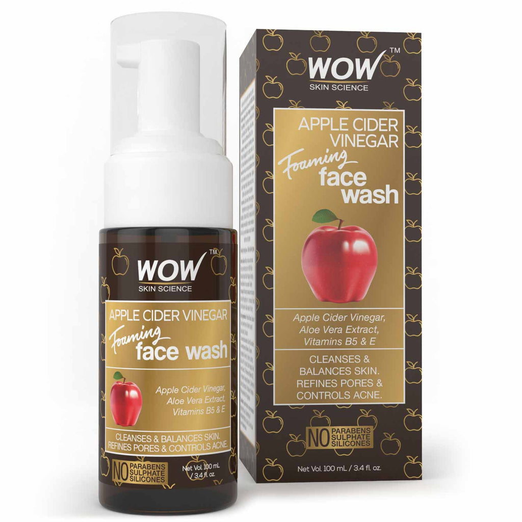 WOW Skin Science Apple Cider Vinegar Foaming Face Wash - 100 mL - BuyWow