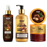WOW Skin Science Shine Ritual Kit with Moroccan Argan Oil, Extra Virgin Olive Oil, Sweet Almond Oil, Grapeseed Oil, Castor Oil & Jojoba Oil - BuyWow