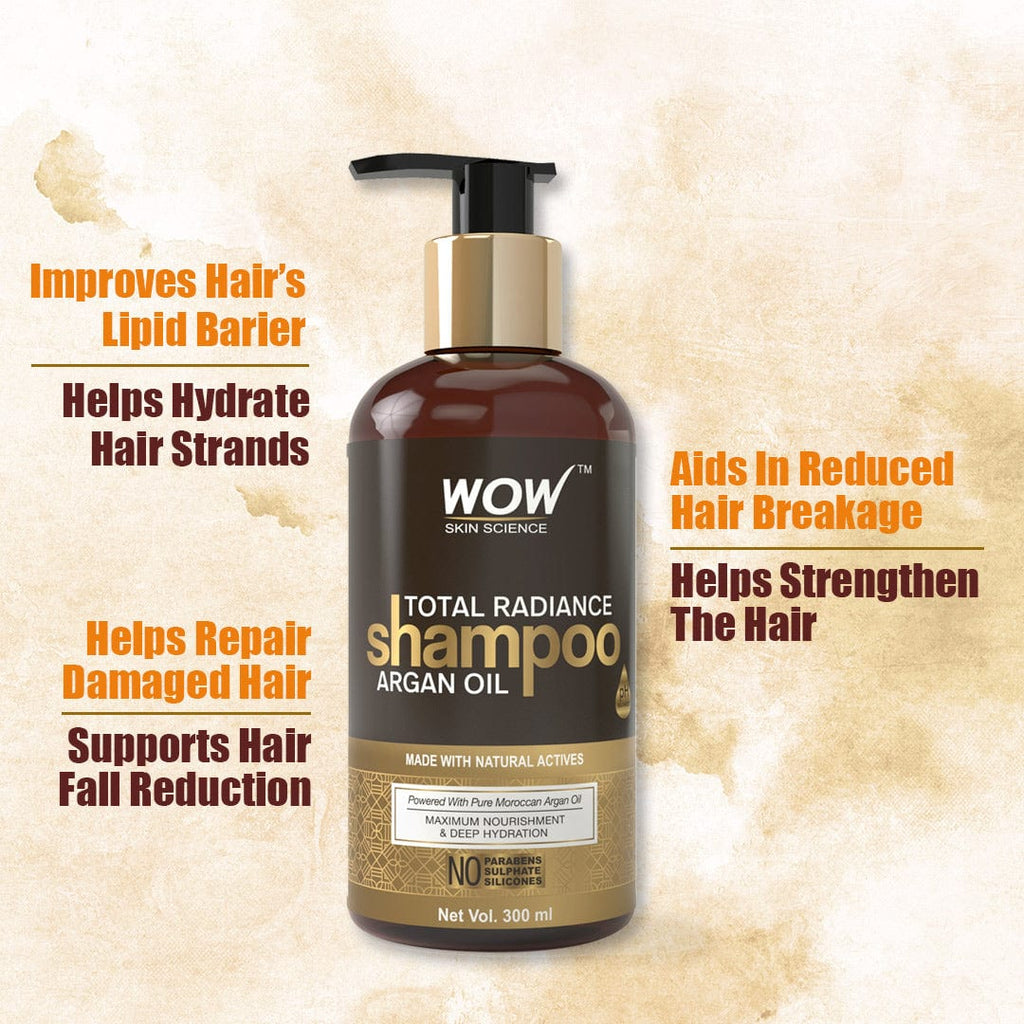WOW Skin Science Total Radiance No Parabens, Sulphate & Silicone Shampoo - 300 ml - BuyWow