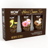 WOW Skin Science Gentle Hand Cream Trio - Avocado + Coconut + English Rose - No Parabens, Silicones, Mineral Oil, Color & PG - 40 ml (Pack of 3)