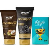 "The ""Cool"" Dad hair care duo (WOW Skin Science Charcoal and keratin shampoo 200ml + Avacado conditioner 150ml + RAGE chocolate )"