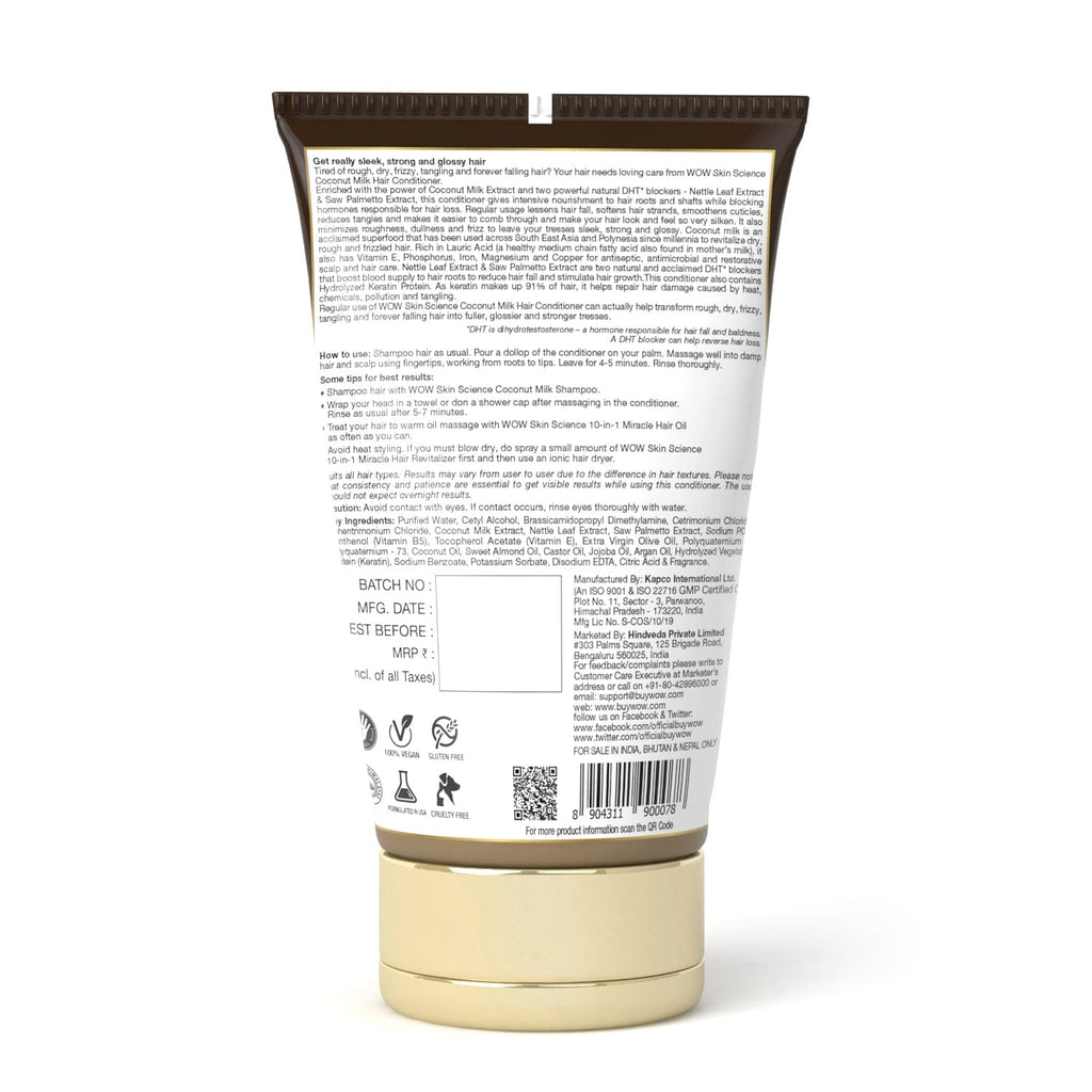 WOW Skin Science Coconut Milk Conditioner - 150 ml - TUBE - BuyWow