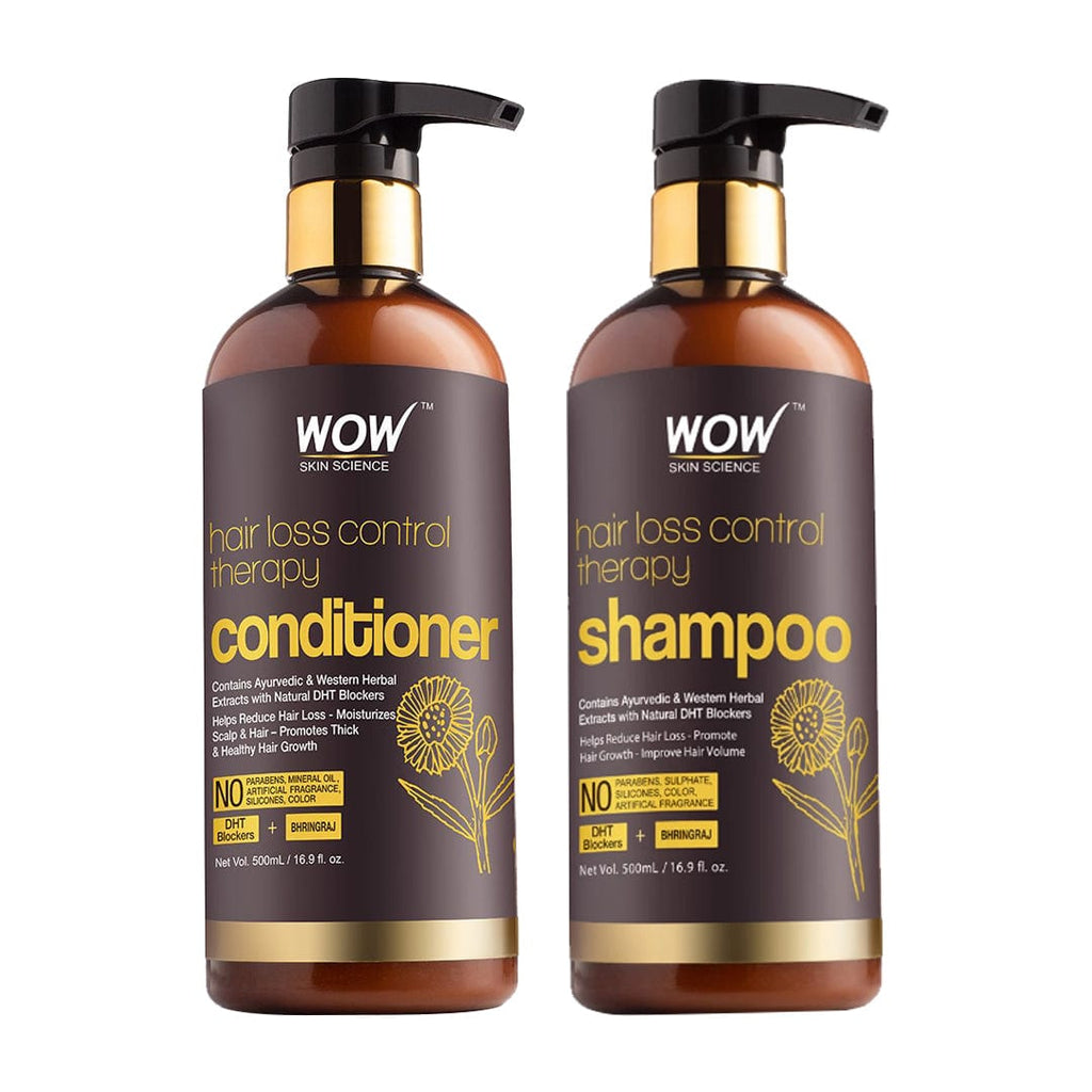 WOW Skin Science Hair Loss Control Therapy Shampoo + Hair Loss Control Therapy Conditioner - 1000 ml - BuyWow