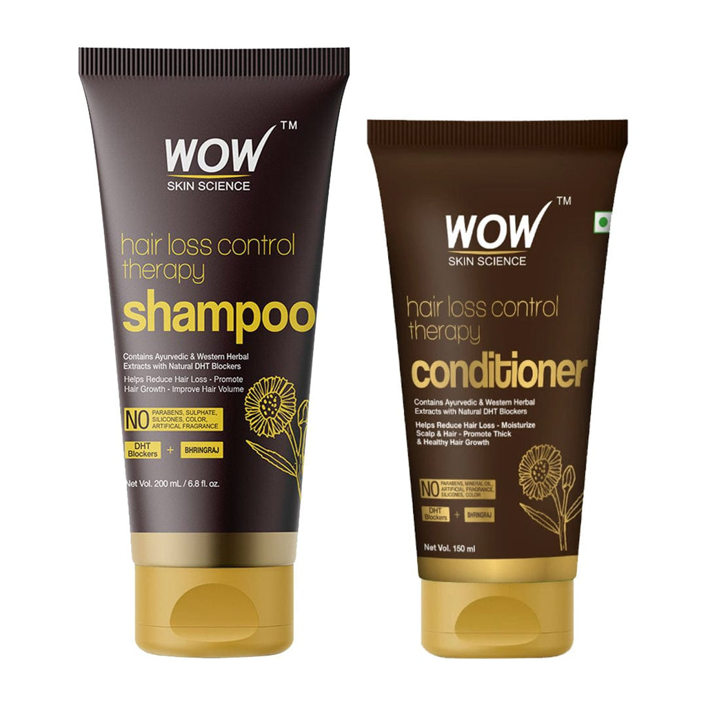 WOW Skin Science Hair Loss Control Therapy Shampoo + Hair Loss Control Therapy Conditioner- 350 ml - BuyWow