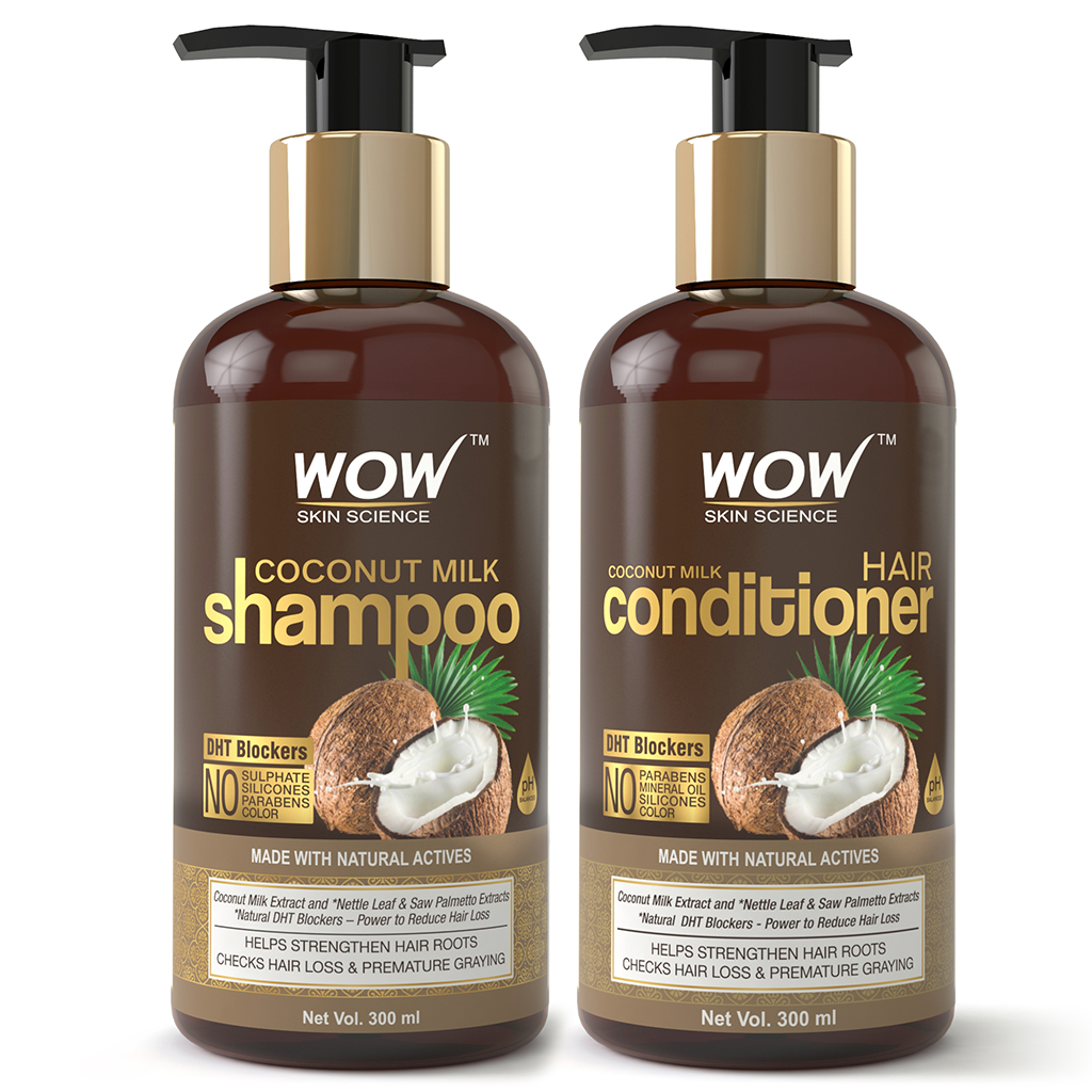 WOW Skin Science Coconut Milk Shampoo + Coconut Milk Conditioner