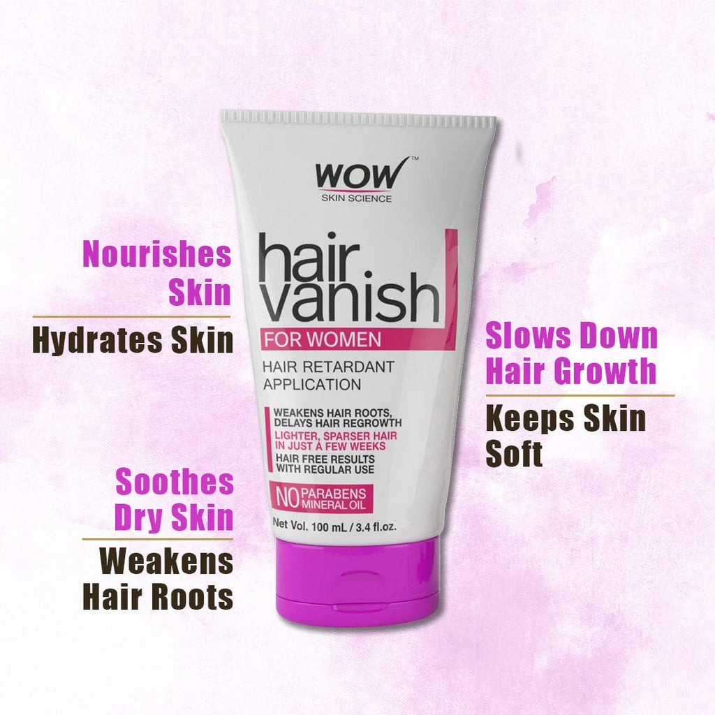 WOW Skin Science Hair Vanish For Women - No Parabens & Mineral Oil - 100 ml - BuyWow