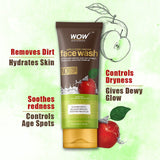 WOW Skin Science Apple Cider Vinegar Face Wash - No Parabens, Sulphate, Silicones & Color - 100 ml - BuyWow