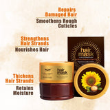 WOW Skin Science Sunflower Biolipids & Argan Oil Hair Mask for Dry & Damaged Hair - 200 ml - BuyWow