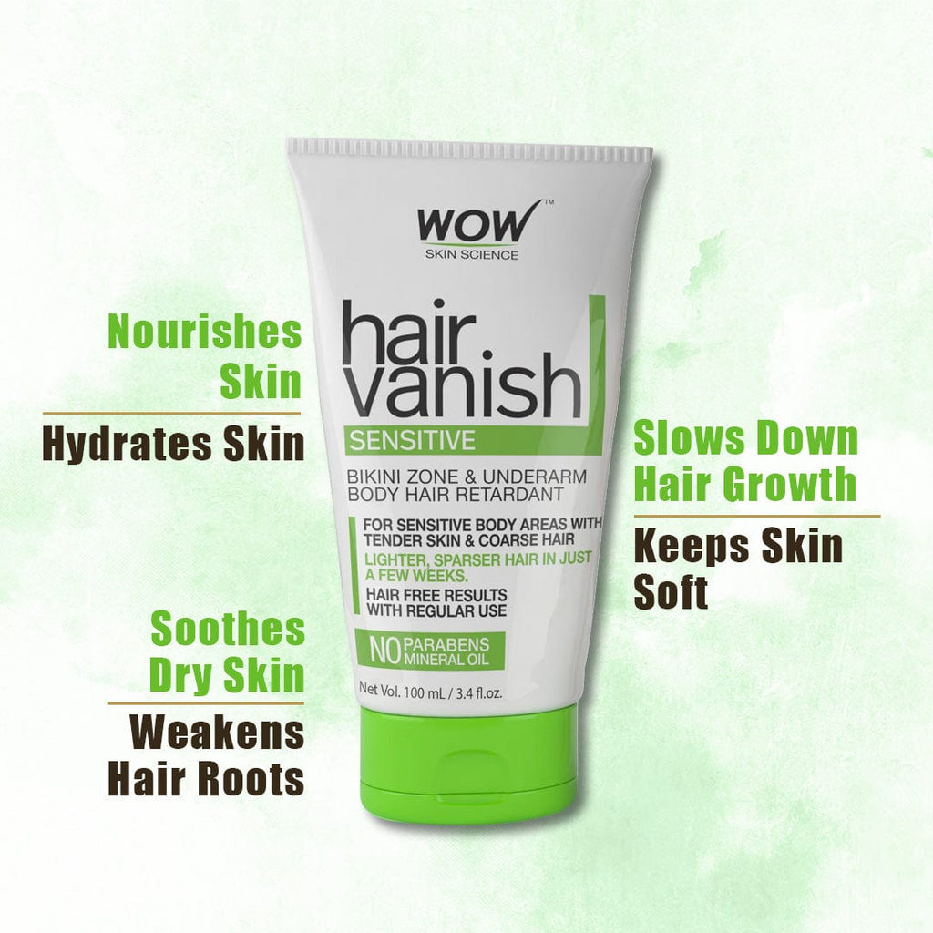 WOW Skin Science Hair Vanish Sensitive No Parabens and Mineral Oil - 100 ml - BuyWow