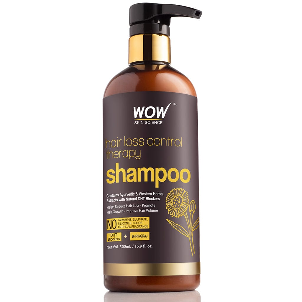 WOW Skin Science Hair Loss Control Therapy Shampoo - Increase Thick & Healthy Hair Growth - Contains Ayuvedic & Western Herbal Extracts with Natural DHT Blockers - For All Hair Types - 500 ml - BuyWow
