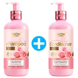 WOW Skin Science Himalayan Rose Shampoo with Rose Hydrosol, Coconut Oil, Almond Oil & Argan Oil - For Volumnising Hair, Anti Smelly Scalp - No Parabens, Sulphate, Silicones, Color & PEG - 300 ml