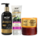 WOW Skin Science Ultimate Charcoal Hair & Skin Care Kit