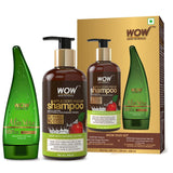 WOW Skin Science Apple Cider Vinegar Shampoo - 300 ml with 99% Pure Aloe Vera Gel - 130 ml
